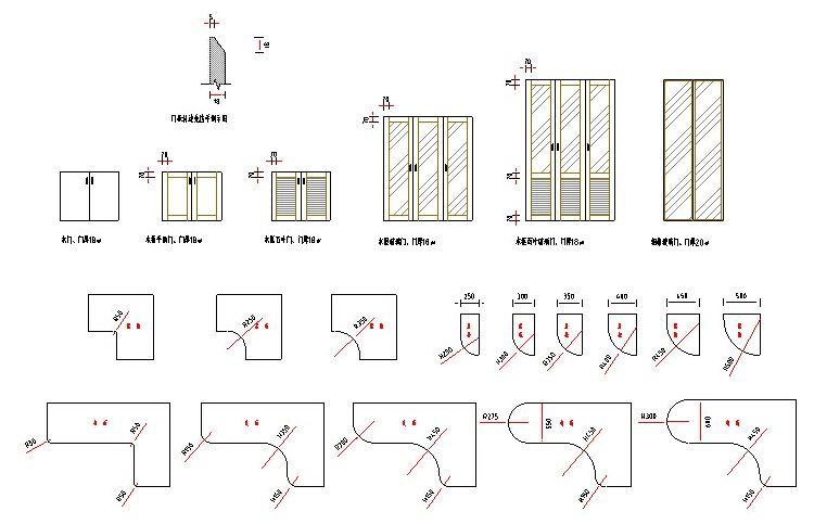 CAD家具房客结构设计图CAD衣柜图库秘密定七十二家图库节点图纸图片
