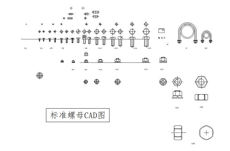 cad机械零件标准件图块cad机械制图标准件图库绘图素材