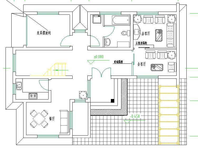 cad别墅设计图纸图库全套cad设计施工图自建房施工图