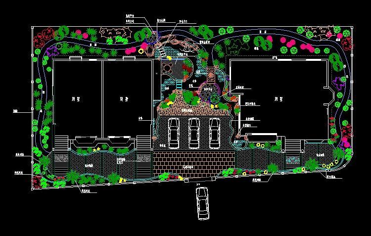 本素材为cad园林景观规划设计图纸,别墅庭院园林景观设计cad平面图