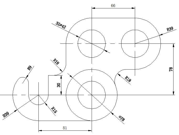 CAD机械零件练习图纸AutoCAD图纸v图纸样例机械名书名号图片