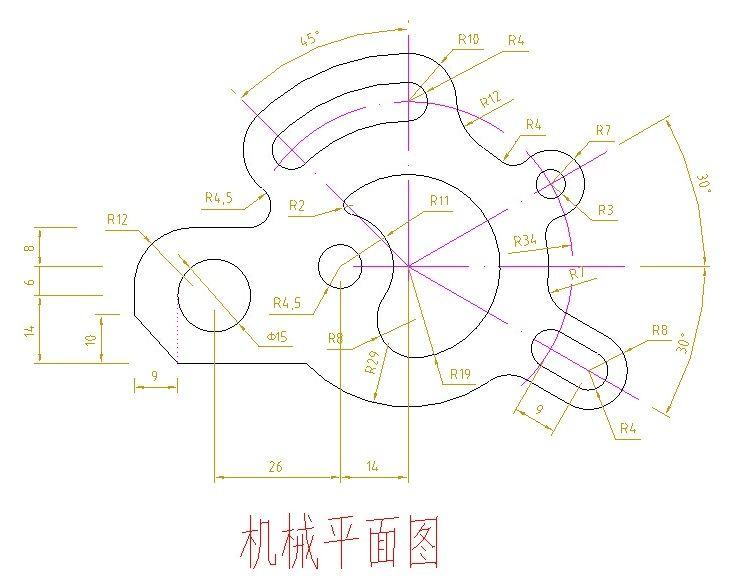 CAD机械零件装备图纸AutoCAD绿色v图纸样例图纸弄机械哪征途练习图片
