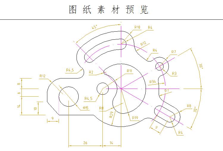 机械平面图