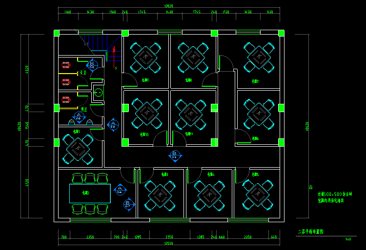 咖啡厅西餐厅设计别墅CAD花园30套方案图纸cad图纸设计图片