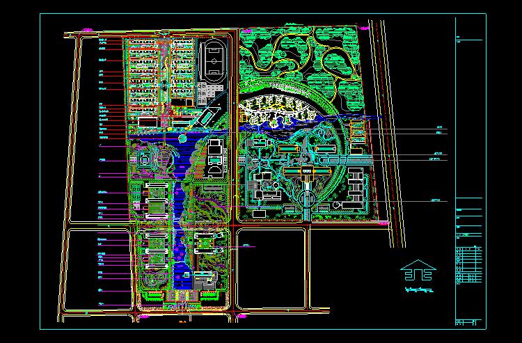 40套学校校区规划总平面图 校区园林景观设计cad图纸