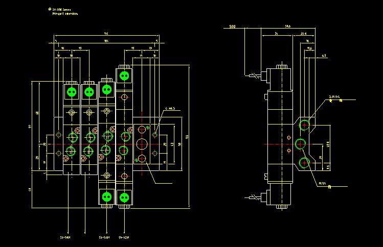 各种图库系列CAD气缸大全-迅捷CAD图纸-迅v图库512图纸图片