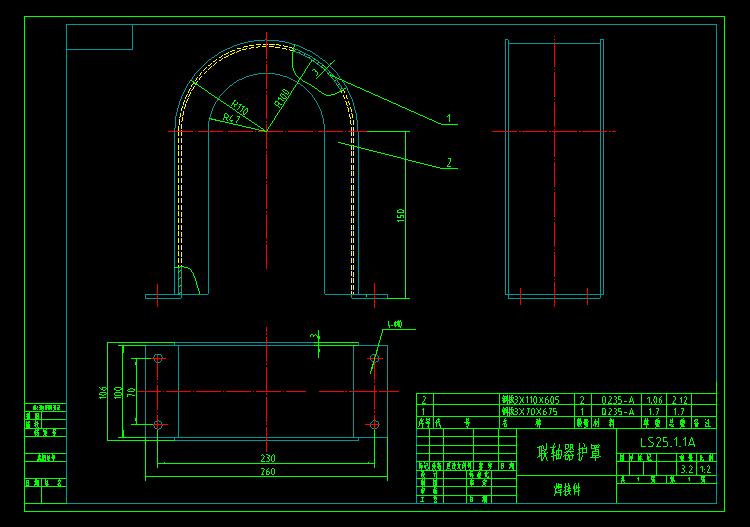 螺旋输送机图纸线条CAD图纸样式整机木全套图片