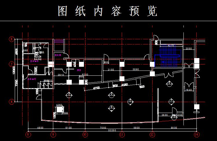 咖啡吧建筑平面图