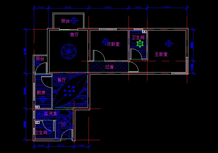 cad室内装潢设计家居设计全套图纸案例