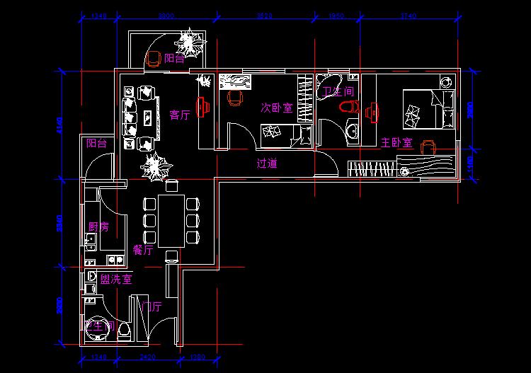 中等户型室内设计平面图