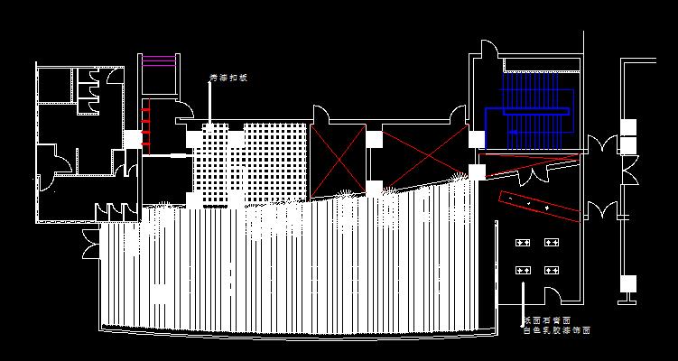 咖啡吧顶棚平面图