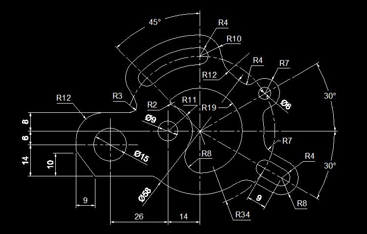CAD练习图6