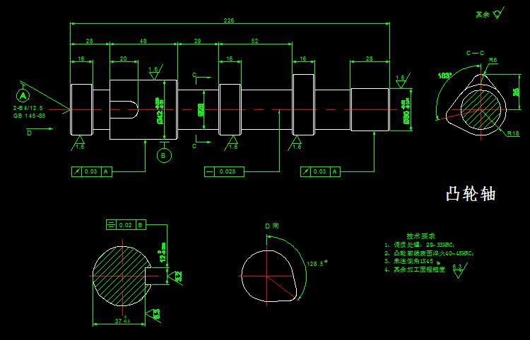 齿轮零件图_S195柴油机CAD全套图纸 - 迅捷CAD编辑