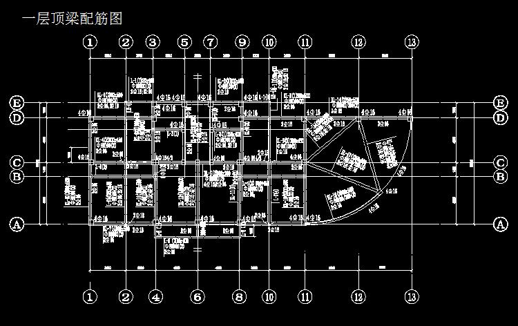 CAD图纸视频基础钢筋GGL10.0钢筋v图纸CAD店夜宵的基础图片