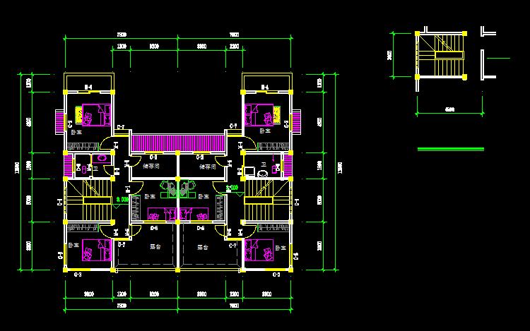 新农村自建房屋别墅二层三层施工建筑结构图纸cad全套设计图