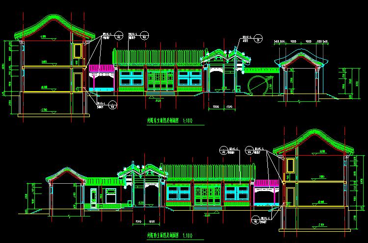 二层传统四合院设计图12