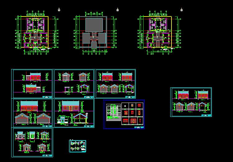 一层四合院设计图1