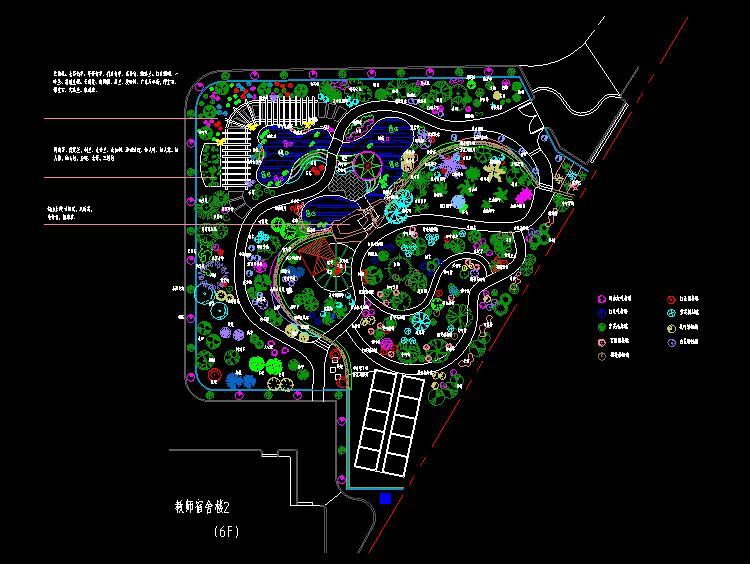 生物园绿化施工图
