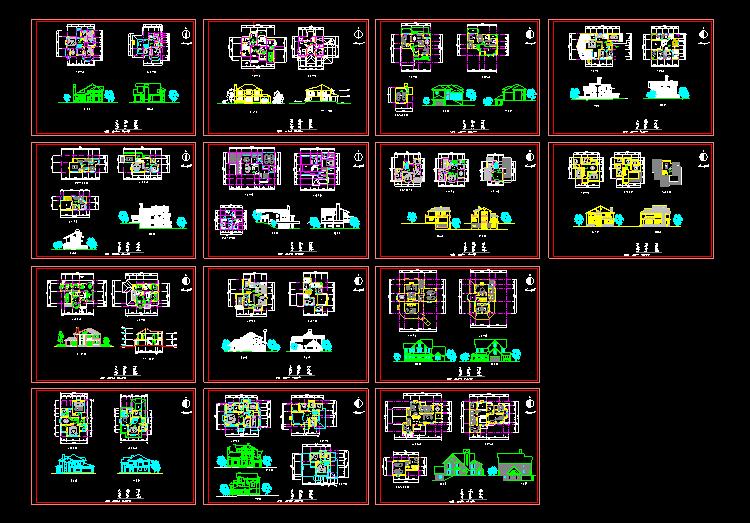 14套别墅方案图