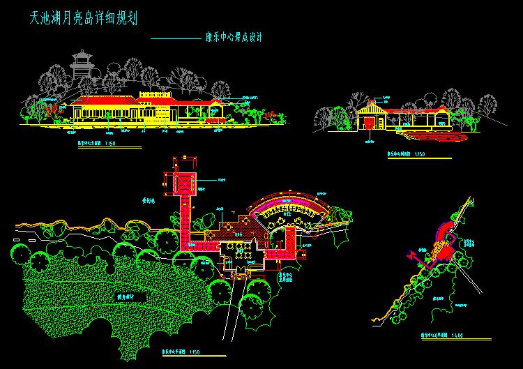 天池湖月亮岛景点设计