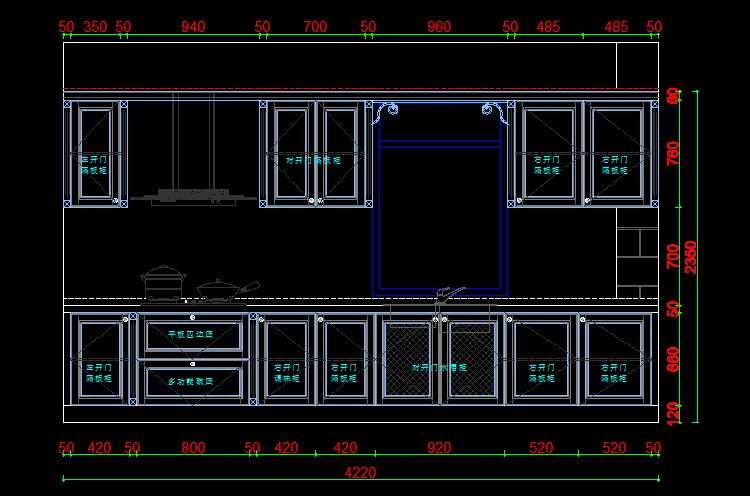 133套橱柜设计柜地柜立面图整体厨房设计CA木头床头图纸图片