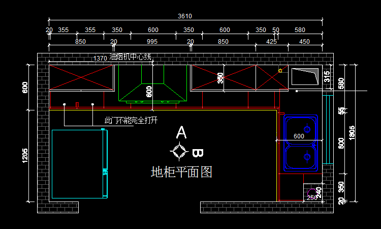 地柜平面图