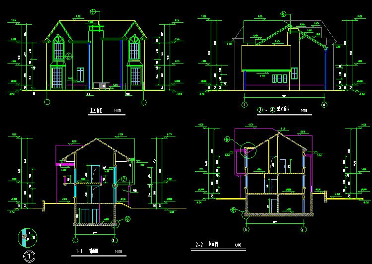 别墅全套建筑施工图