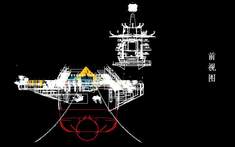 辽宁舰前视图