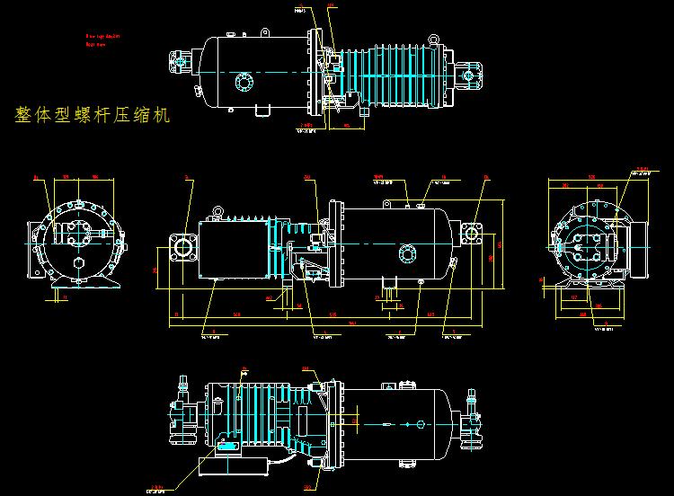 整体型螺杆压缩机