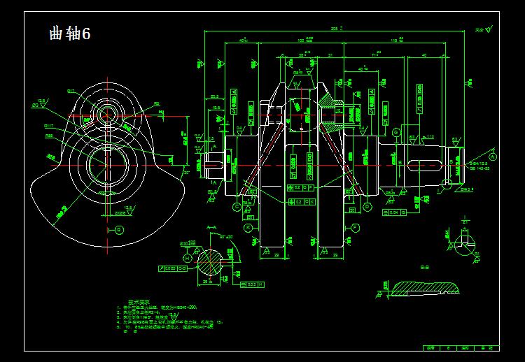 看钢筋图_S195柴油机CAD全套图纸 - 迅捷CAD图库